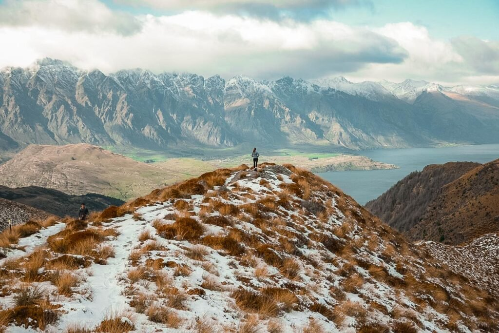 Standing on the Ben Lomond saddle , Queenstown