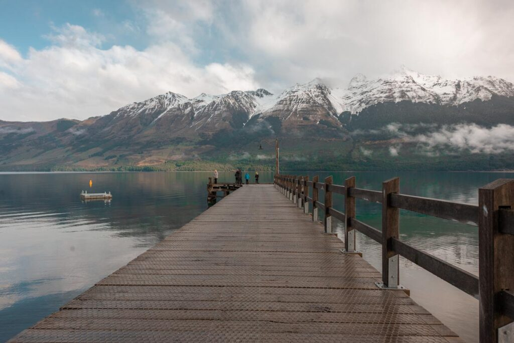 The Glenorchy Jetty at the start of te Glenorchy Boardwalk Trail
