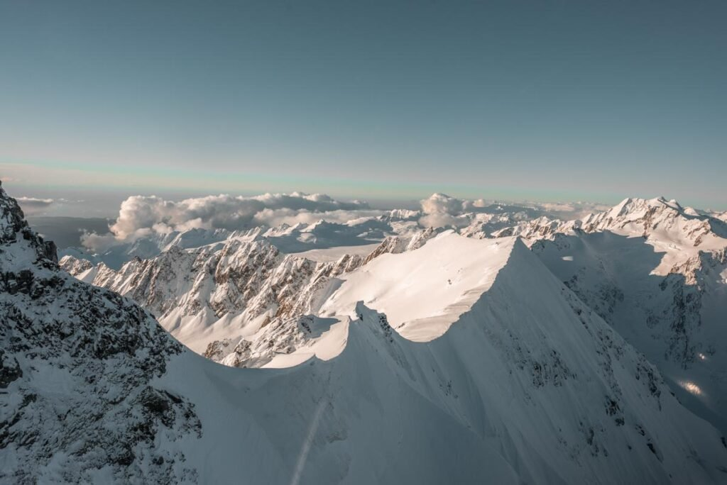 The Southern Alps from a scenic flight