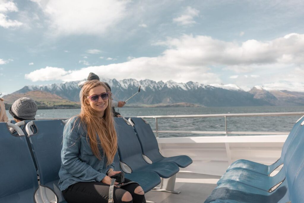 Bailey on the Spirit of Queenstown cruise on Lake Wakatipu