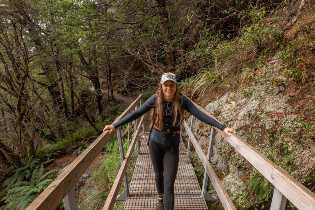 Hiking on the beginning of the Routeburn Track