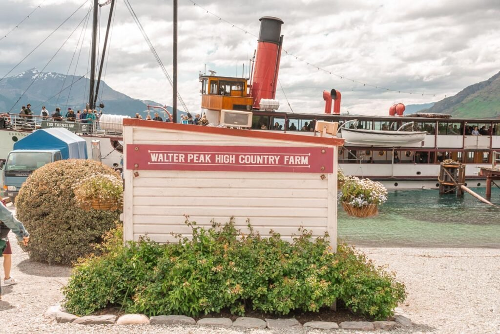The TSS Earnslaw boat parked at Walter Peak High Country Farm