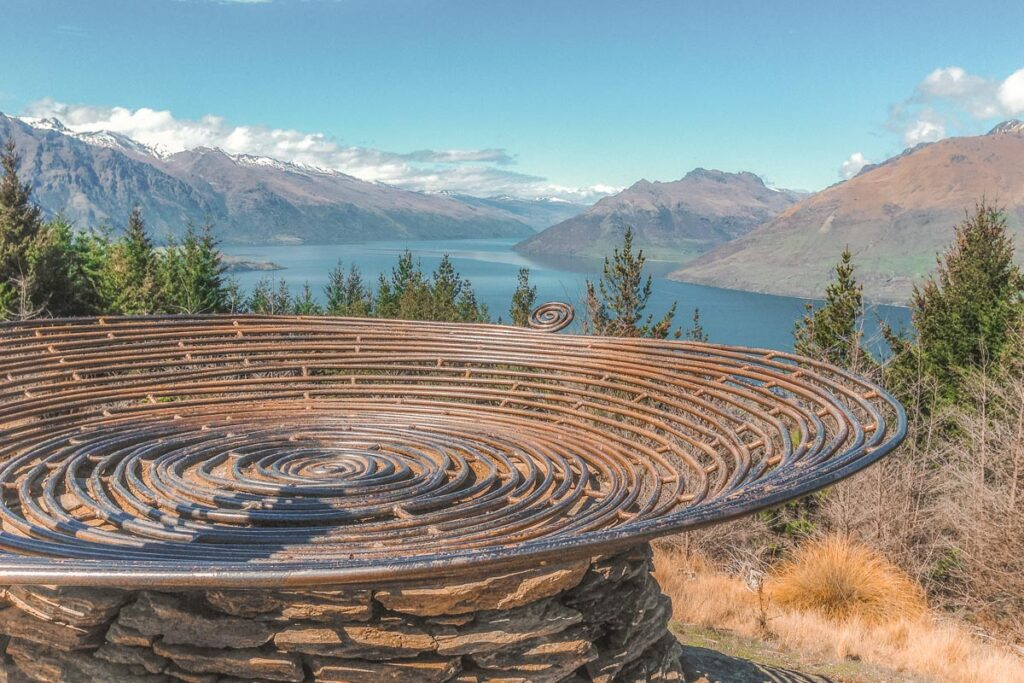 The Basket of Dreams at the top of the Queenstown Hill Hike