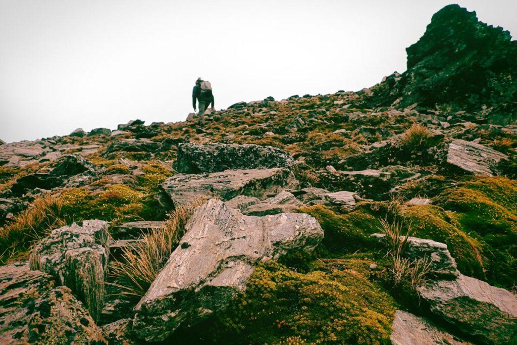 Climbing up to Lake Alta