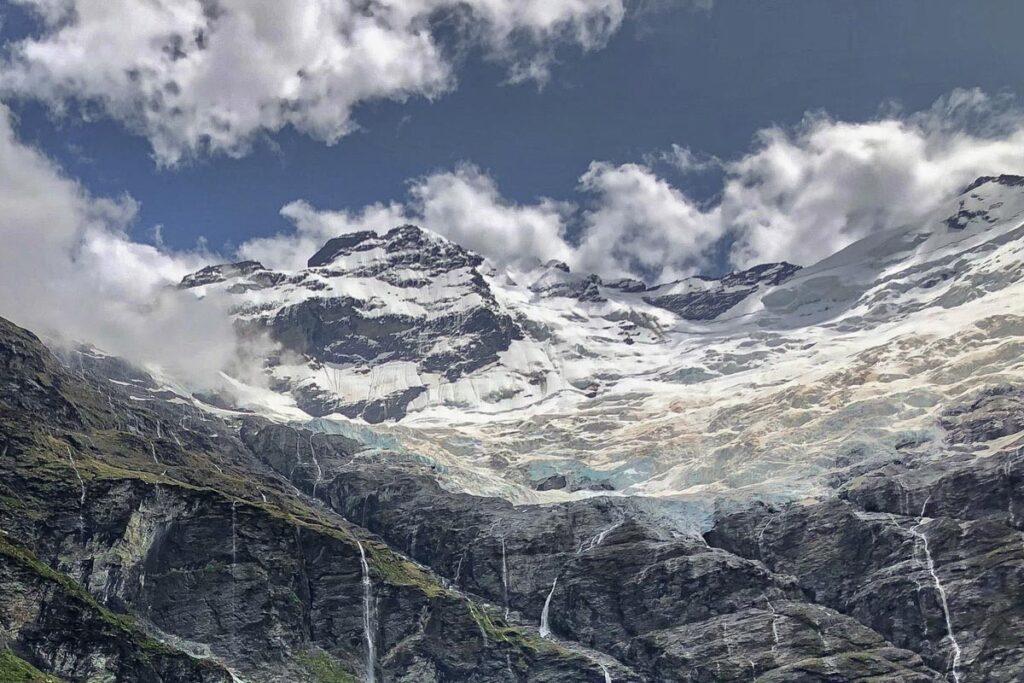 Earnslaw Glacier on Mt Earnslaw