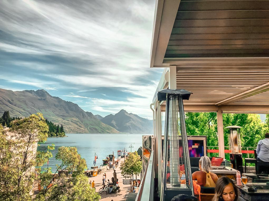 The view from the rooftop bar at Attiqa Queenstown
