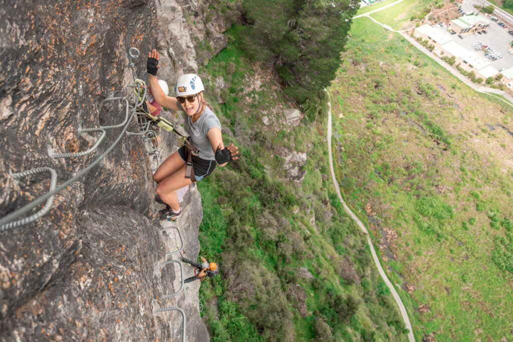 Via Ferrata Rock climbing in New Zealand