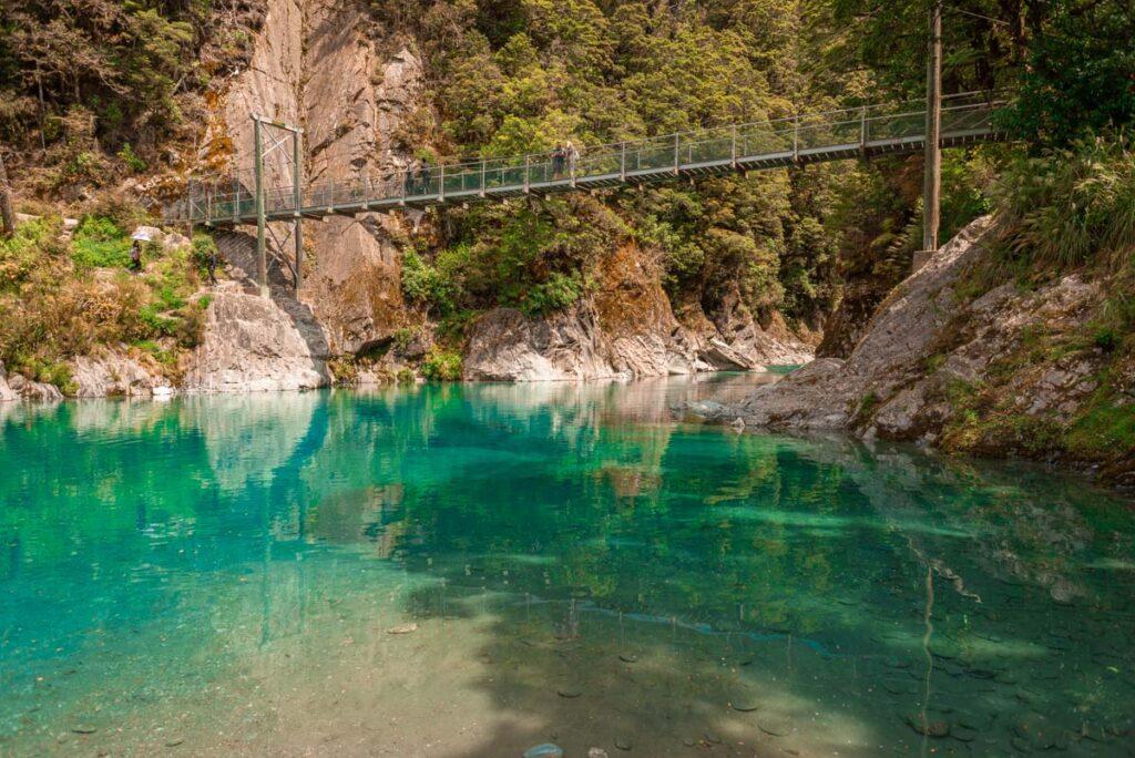 The Blue Pools near Wanaka, New Zealand