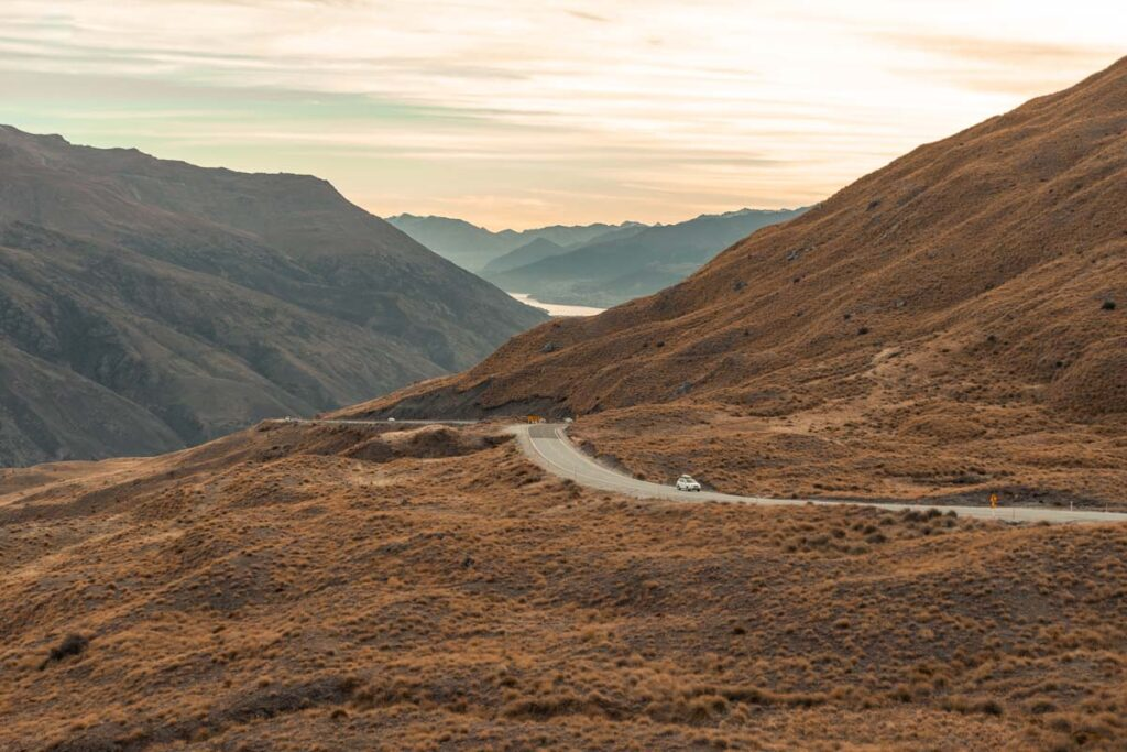 The Crown Range Road near Wanaka, New Zealand