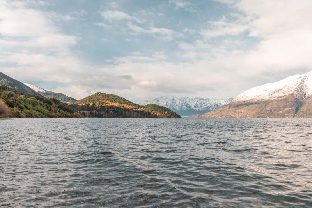 Views of Lake Wakatipu from the twelve mile delta Camground