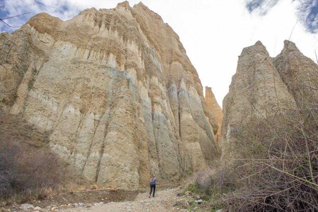 Walking amoung the Omarama Clay Cliffs
