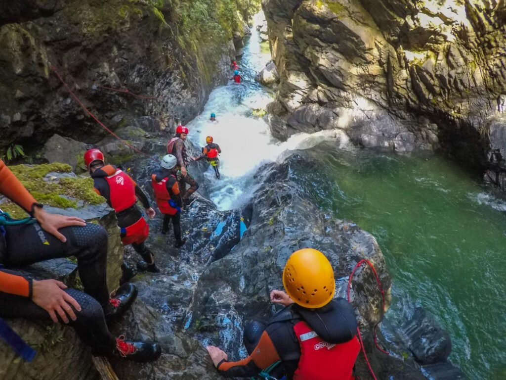 Canyoning in Mt Aspiring National Park