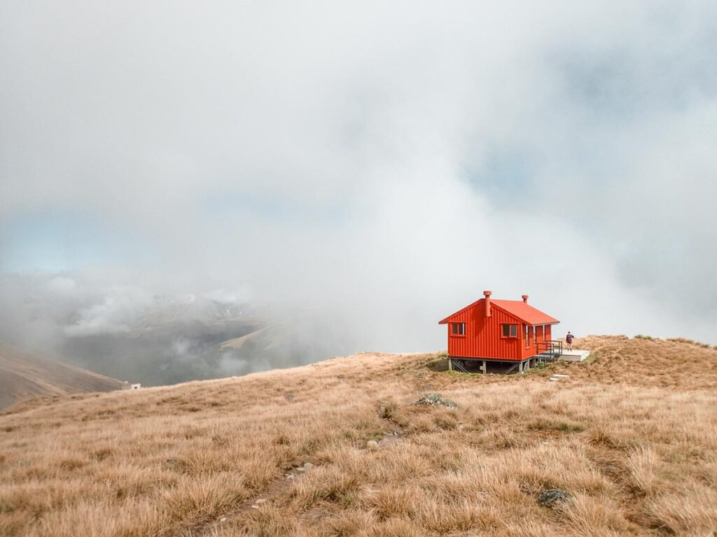A photo of the Brewster Hut, New Zealand