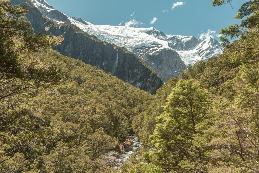 Views of Rob Roy Glacier from the trail