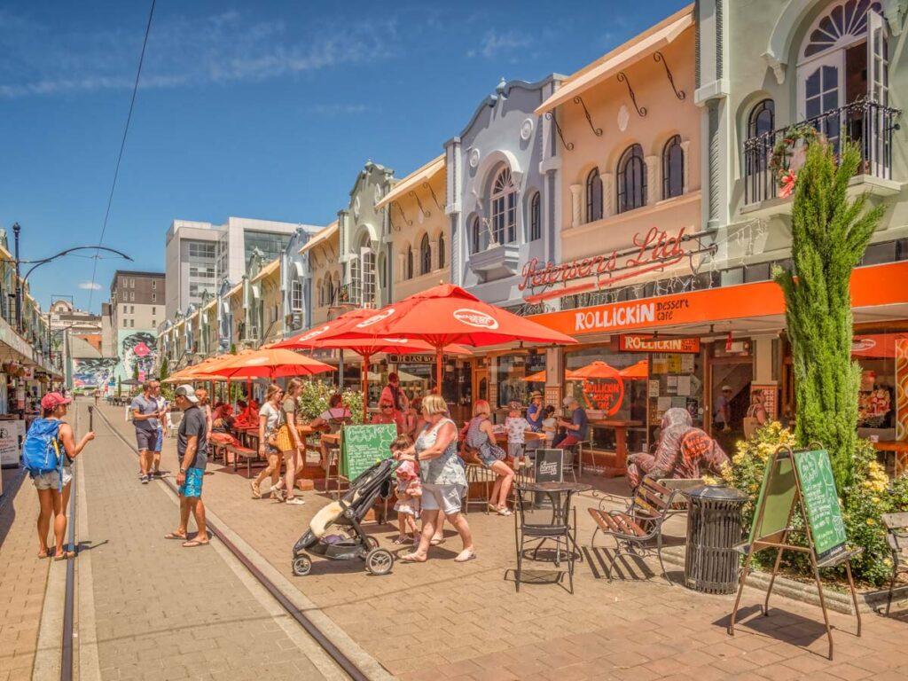 A beautiful street in Christchurch NZ