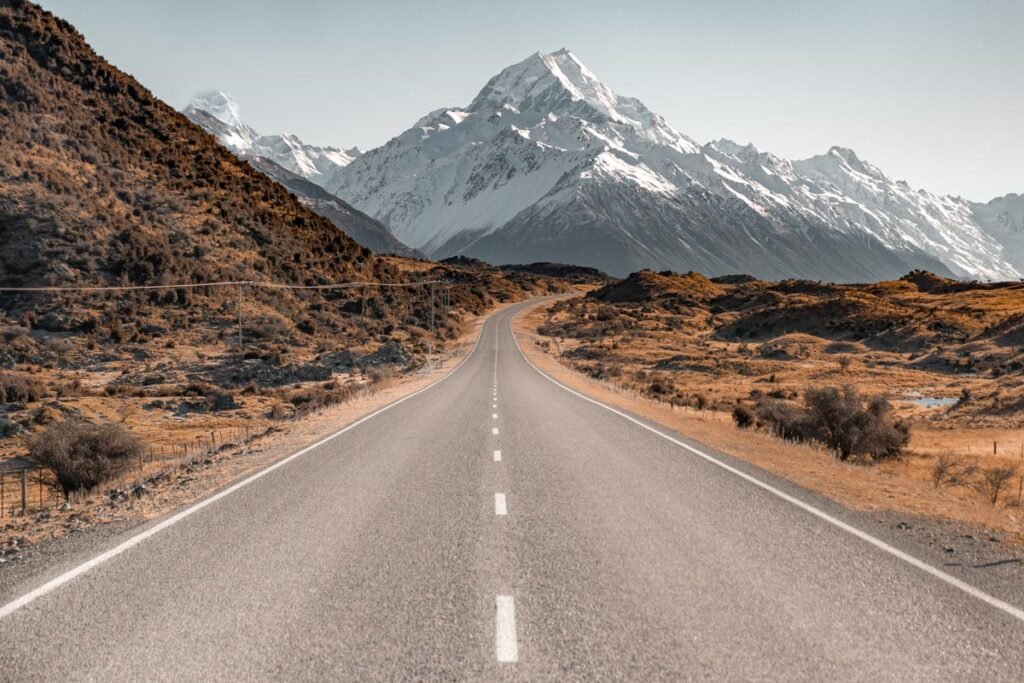 The famous Mount Cook Road photo