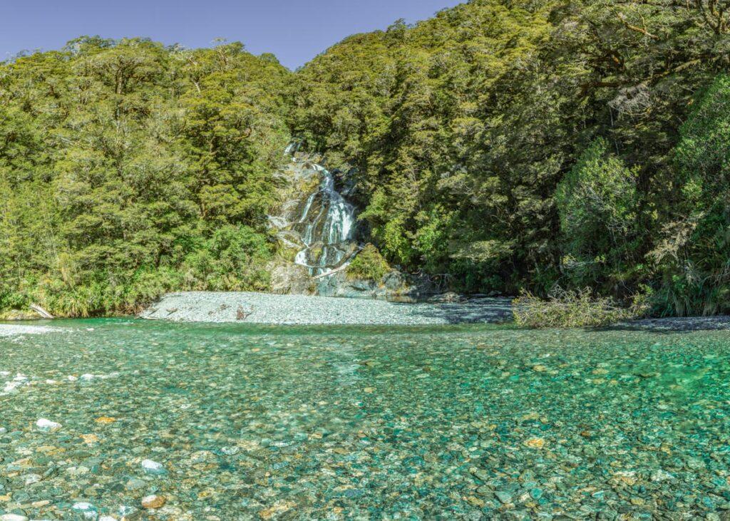 Fantail Falls, Haast Pass, Mt Aspiring National Park, New Zealand
