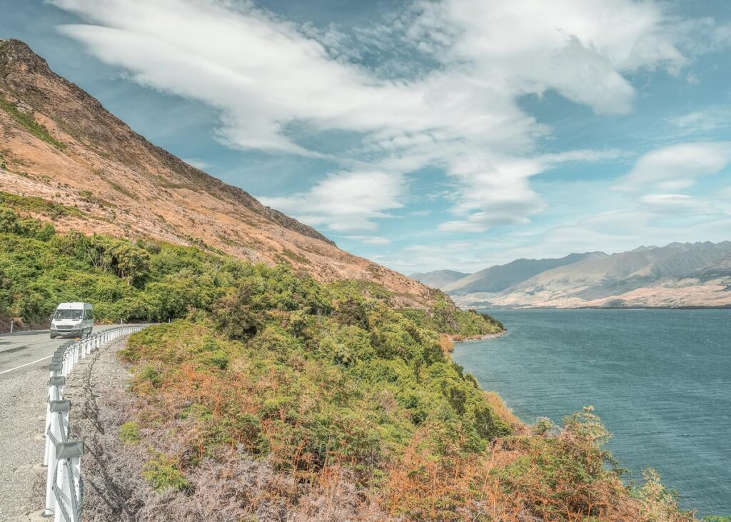 Views of Lake Wanaka just pass the Neck on the road between Queenstown and Franz Josef