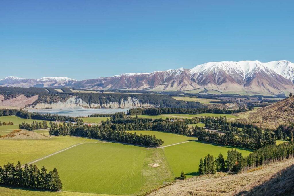 Views of Rakaia Gorge, NZ