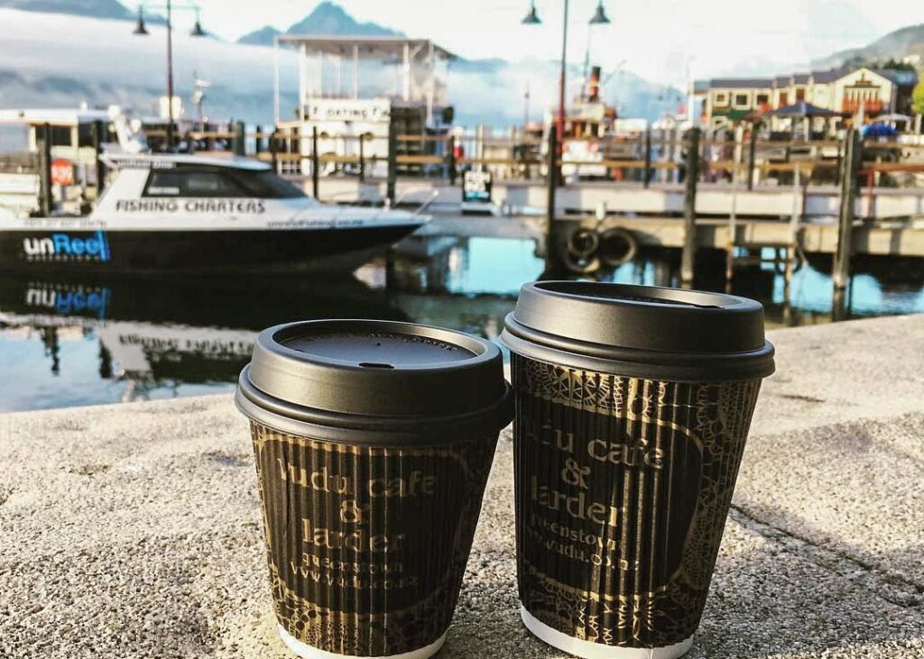 Takeaway Vudu coffees in Queenstown