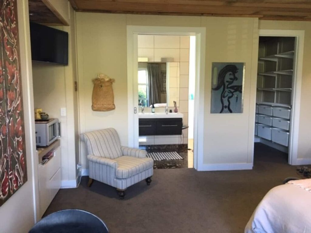 inside a studio apartment Airbnb in Queenstown
