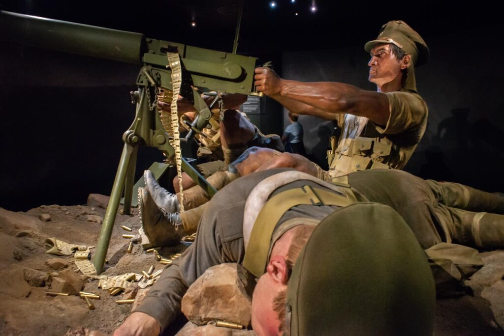 A war exhibition at the Museum of New Zealand in Wellington