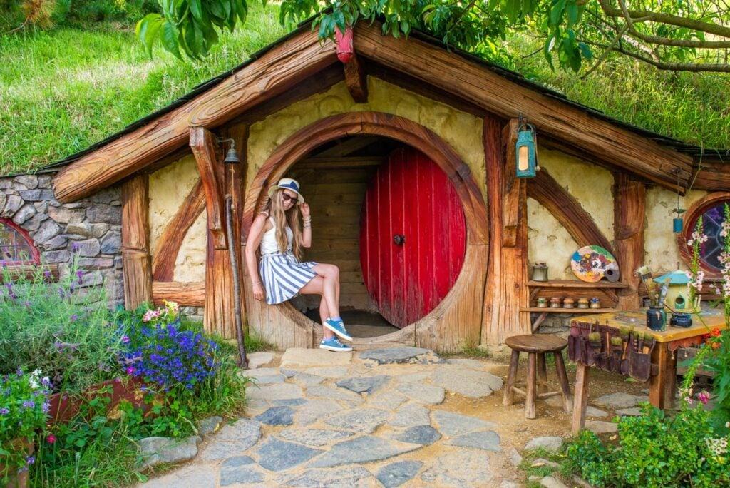 Hobbit home at Hobbiton, NZ
