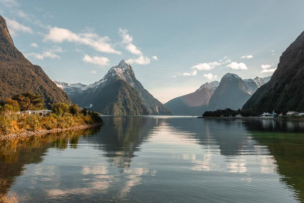 Milford Sound from the foreshore