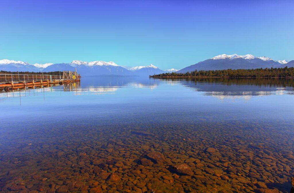 Stunning reflections at Te Anau Downs