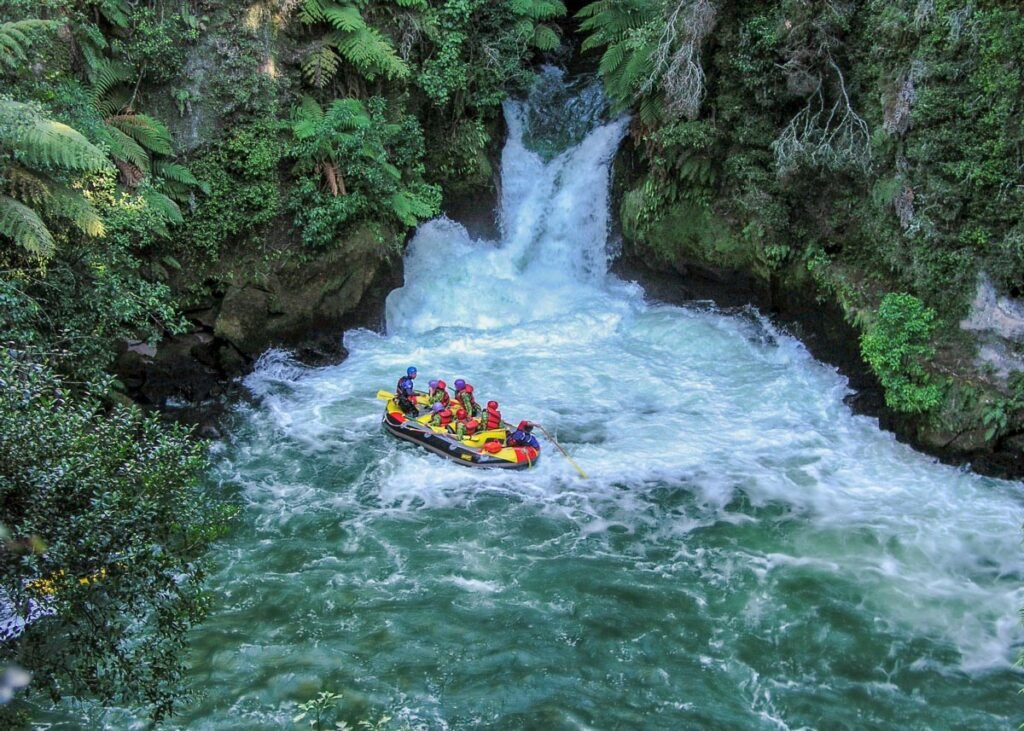 White water rafting on the Kaituna River in New Zealand