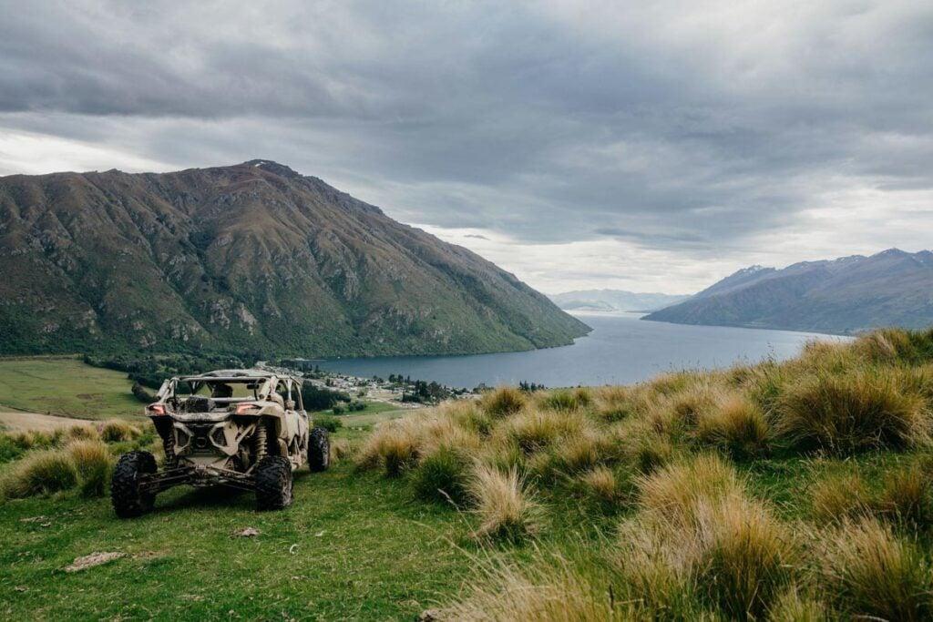 Xtreme Off Road vehicle on a track near Lake Wakatipu