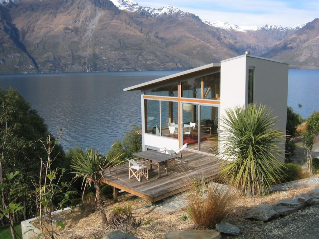 the outside of Lakeside Maisonette Airbnb in Queenstown