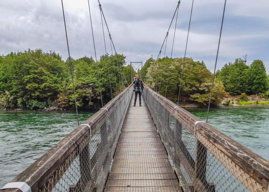 The Rainbow Reach Bridge near Te Anau