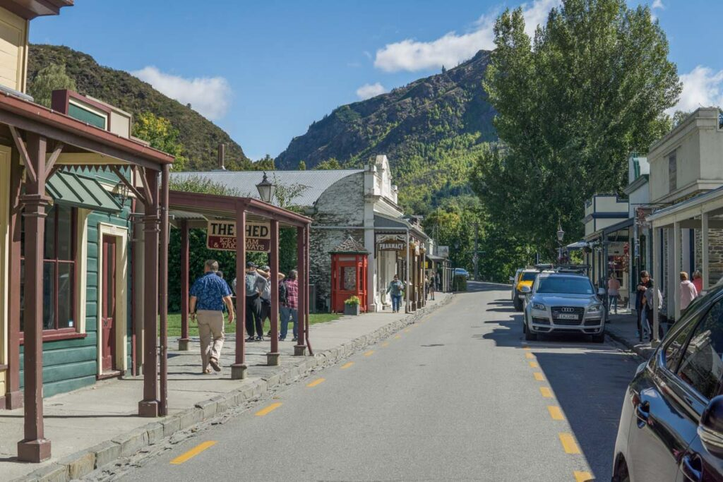 Main street in Arrowtown near Queenstown