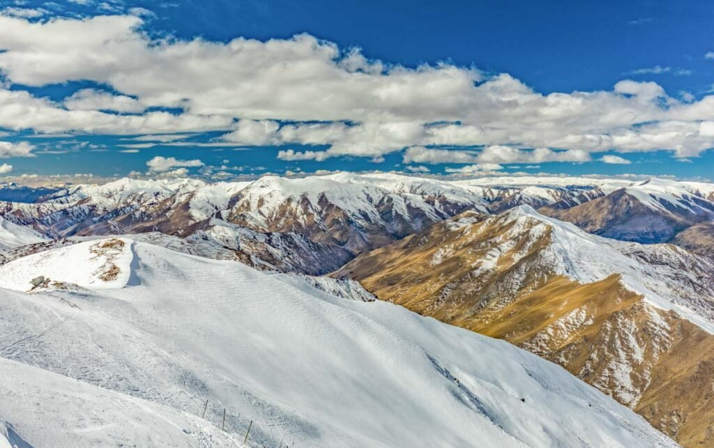 Views from the top of Coronet Peak