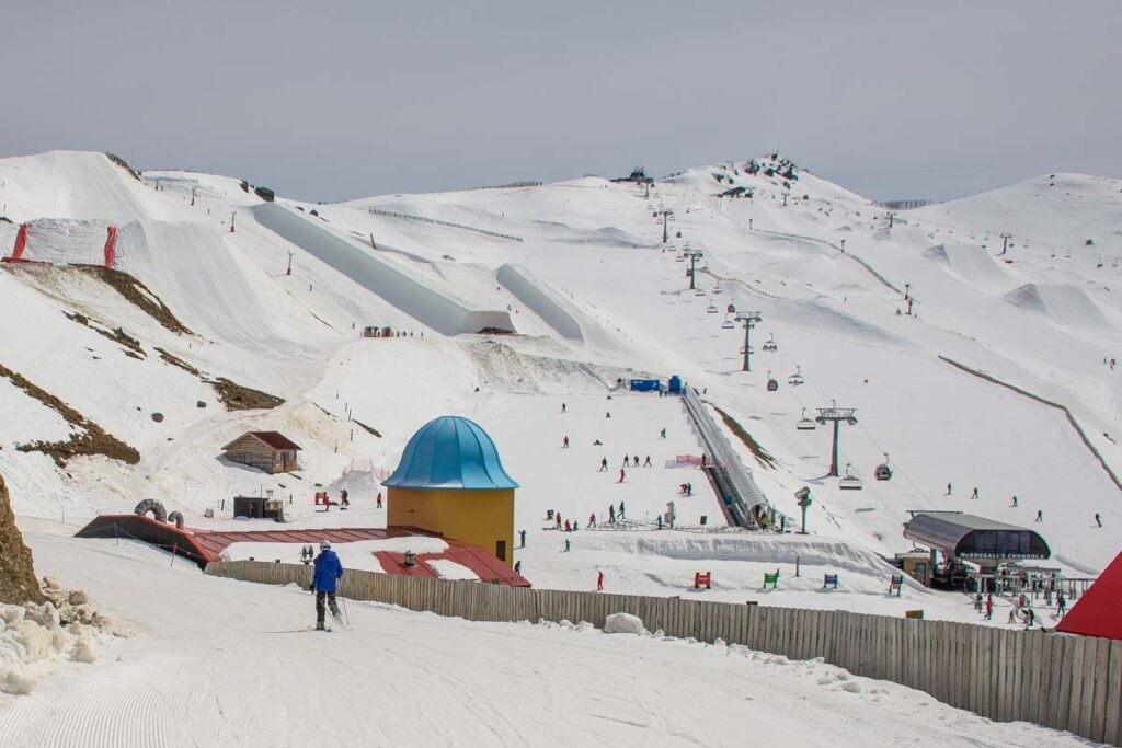 Cardrona ski Resort as seen from one of the ski runs