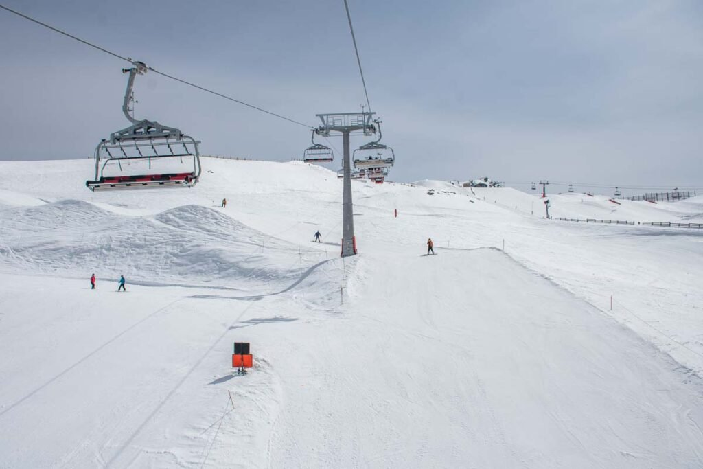 A chairlift at Cardrona Ski Resort