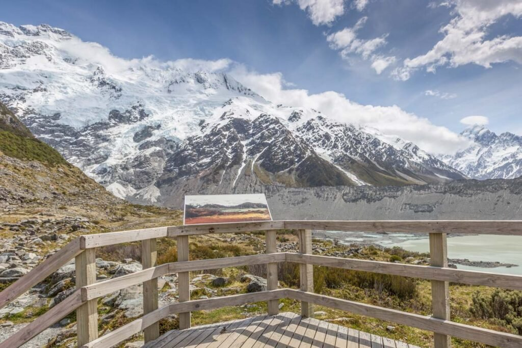 View from the end of the Kea Point Track in Mount Cook