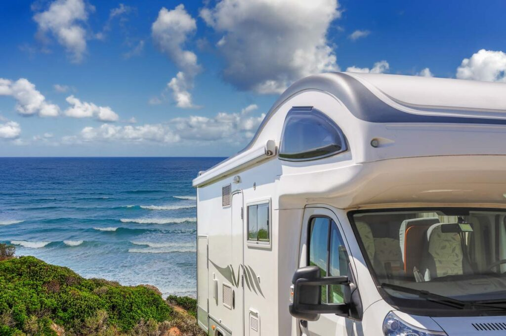 A motorhome by the beach