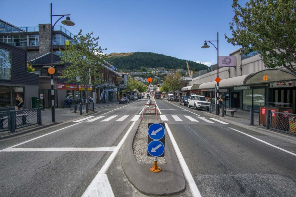 Shotover street in Queenstown