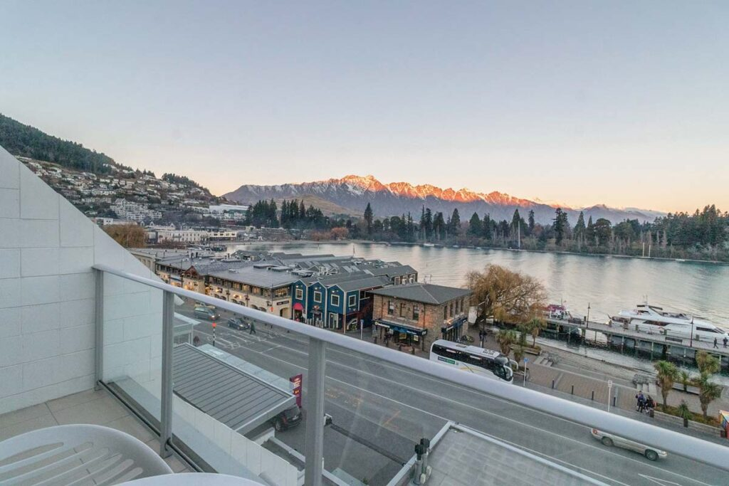 Crowne Plaza Queenstown view from lakefront balcony