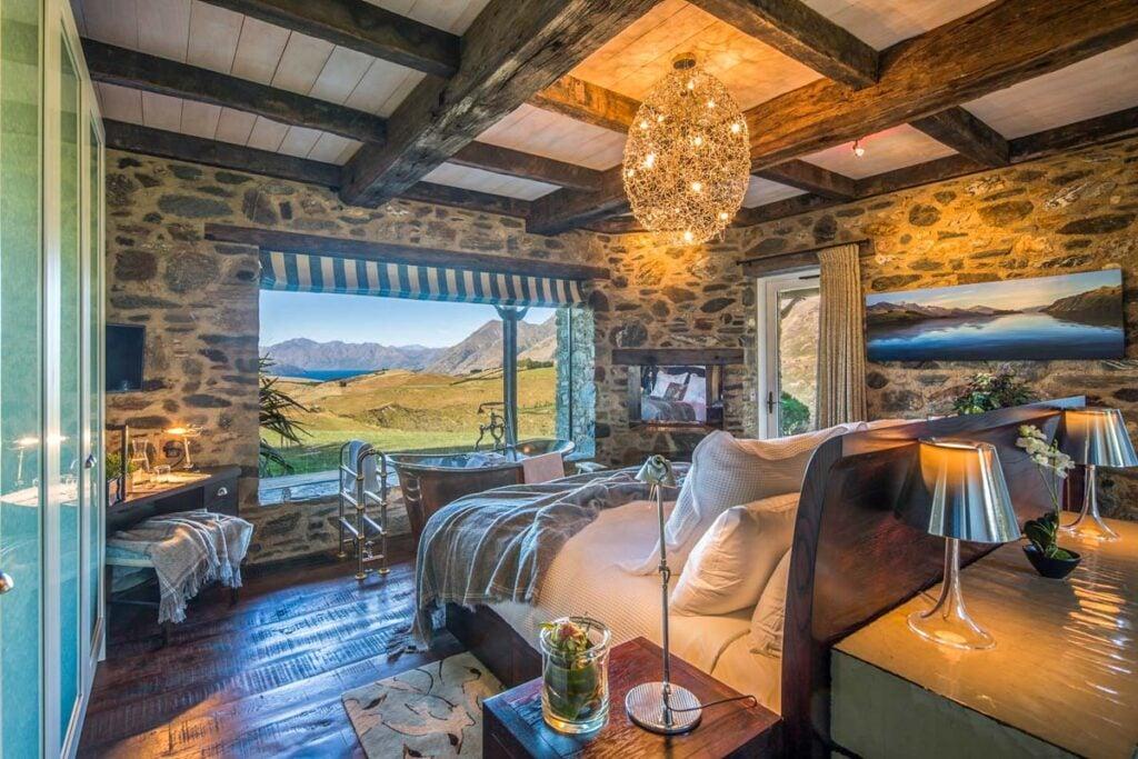A gorgeous room at Mahu Whenua Ridgeline Homestead & Eco Sanctuary near Wanaka