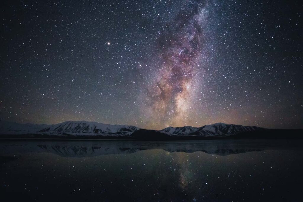 The Milky Way over Lake Tekapo while stargazing