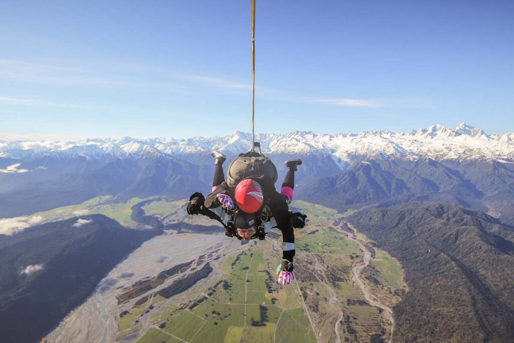 Skydiving in Franz Josef