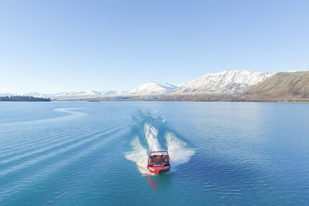 Tekapo Jet racing through the water