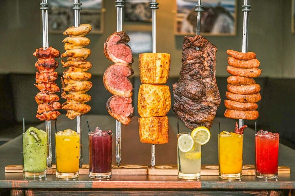 A range of meats at Fogo Brazilian BBQ Experience