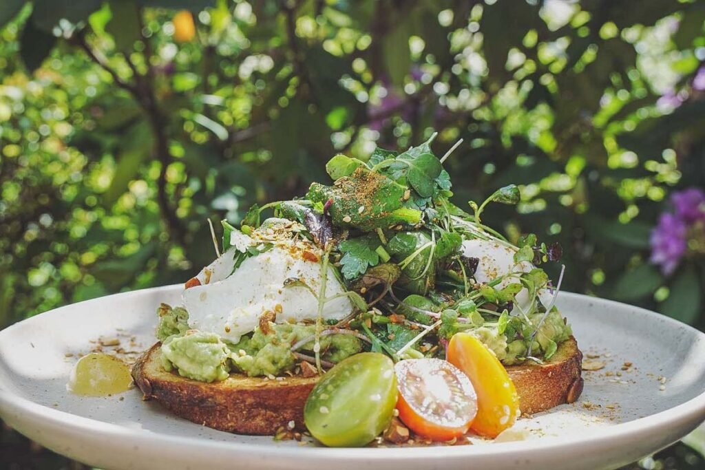 A breakfast meal at Provisions of Arrowtown