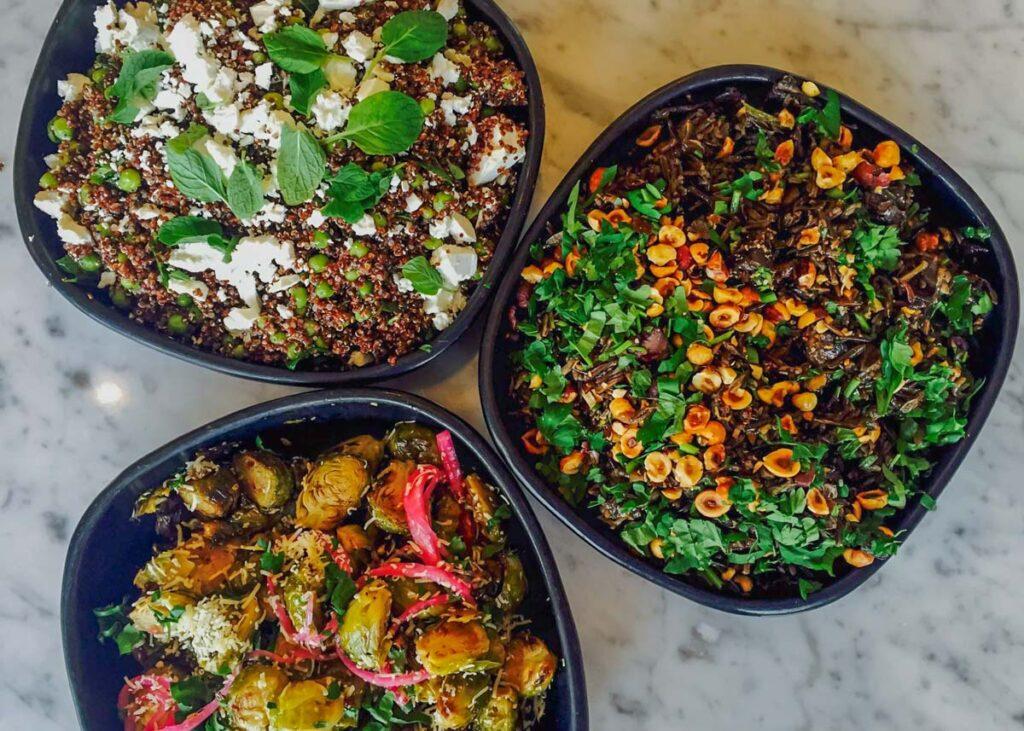 3 salads at Fedeli, Wanaka