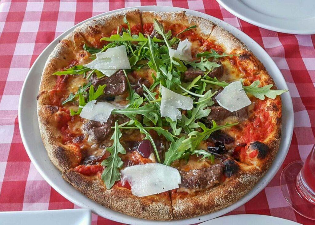 A pizza from Ristorante Pizzeria Paradiso