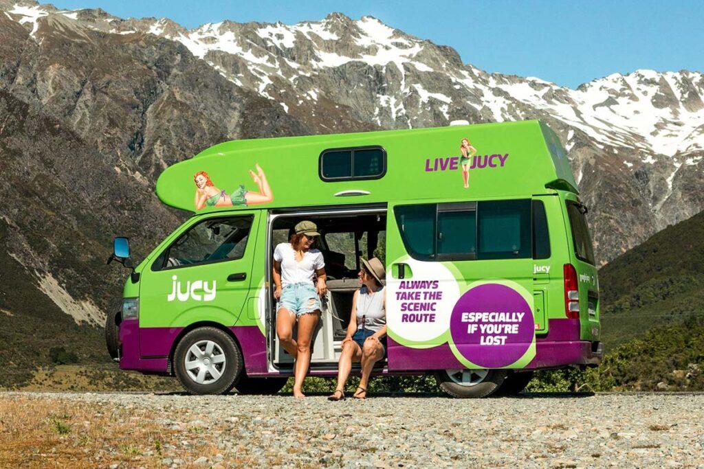 A Jucy Campervan near Queenstown, New Zealand